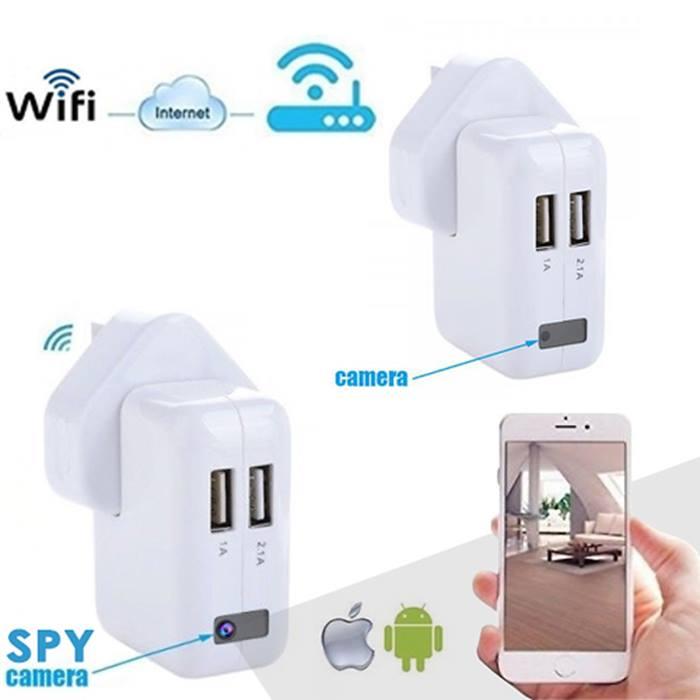 Wi-Fi Spy Plug Camera