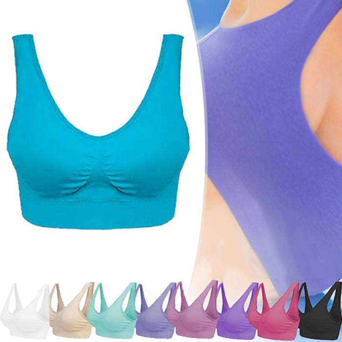 3, 6 or 9-Pack of Comfort Colour Seamless Bras - UK Sizes 8-20