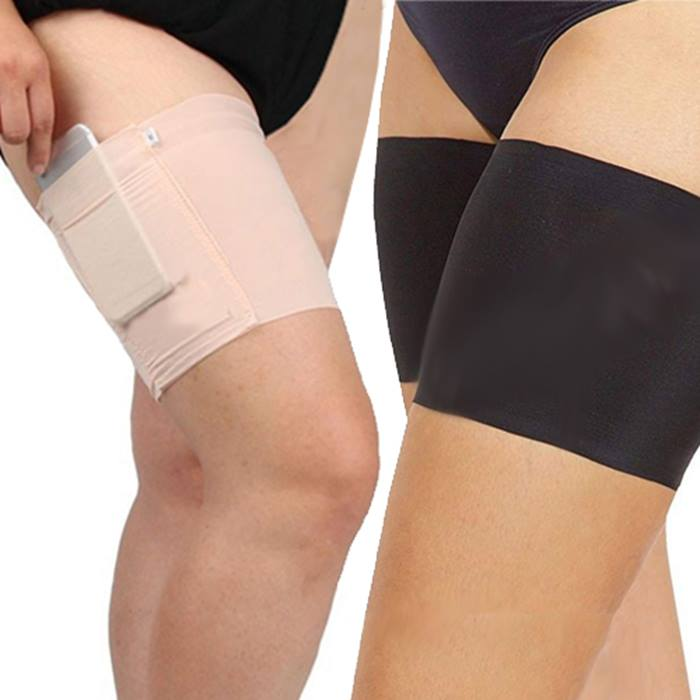 1, 2 or 4 Anti-Chafing Thigh Bands With Storage Pocket - 3 Colours