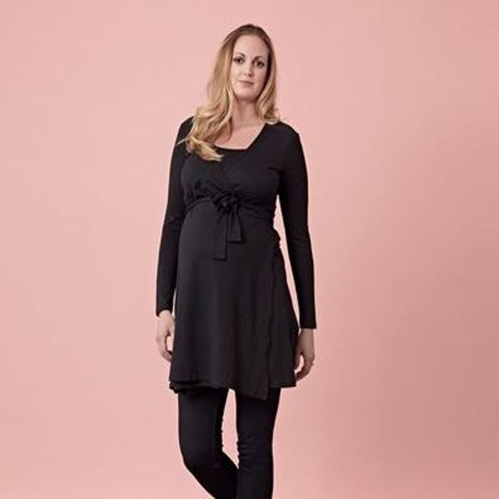 Boutique-black-maternity-dress