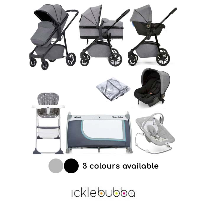 Ickle Bubba Moon (Astral) Everything You Need 3 in 1 Travel System Bundle