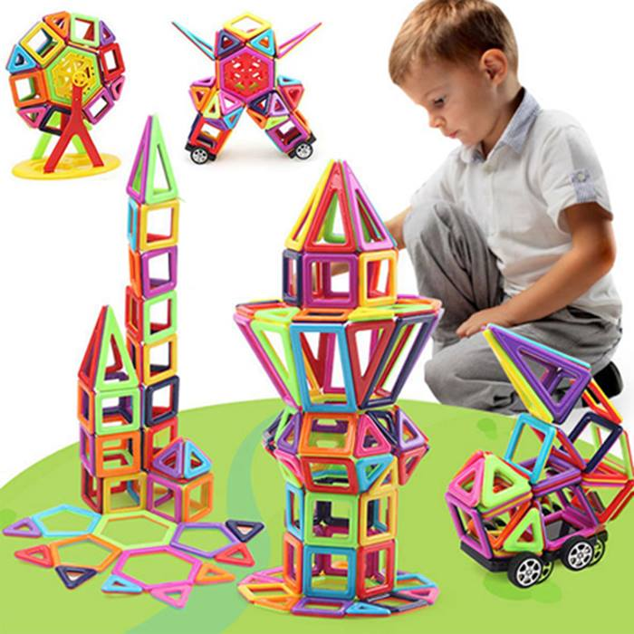Magic Magnetic Building Blocks - 64 or 113 Pieces