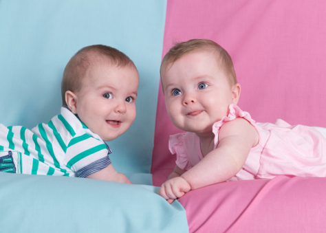 Boy and girl babies