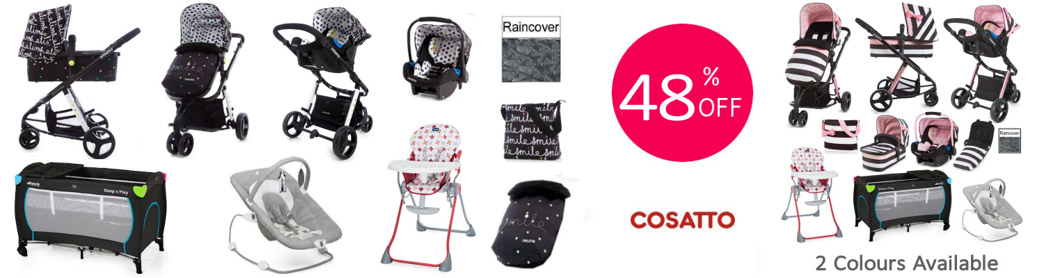 Cosatto Giggle Mix all You Need Travel System Bundle - carousel