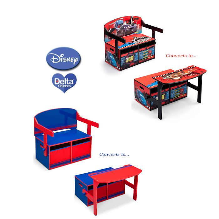 Delta Children 3in1 Convertible Bench  Desk