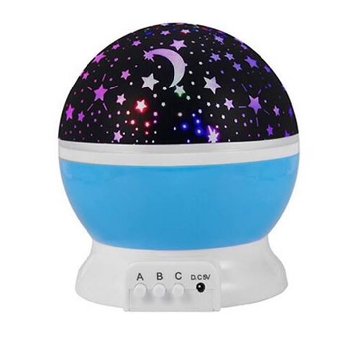 Star and Moon LED Rotating Projector Night Light