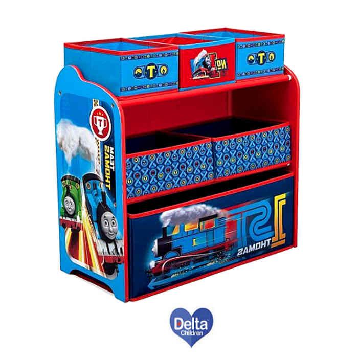 Delta Children Wooden Frame Multi-Bin Toy Organiser