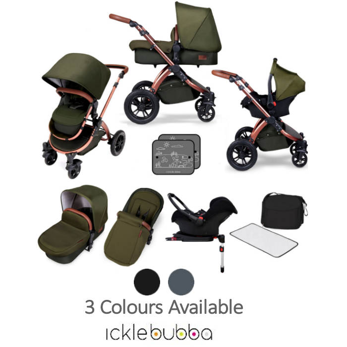Ickle Bubba Special Edition Stomp V4 All In One Travel System & Isofix Base