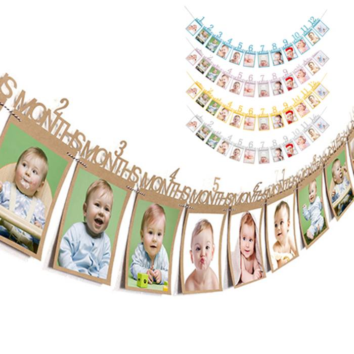 Baby's First-Year Wall-Photo Banner - 5 Colours