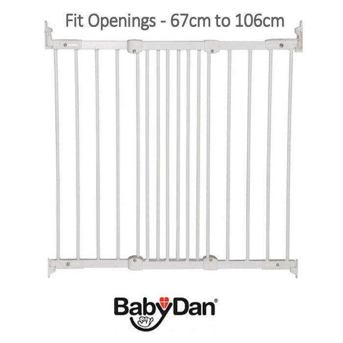 Babydan Super Flexi Fit Wooden Safety Gate - White