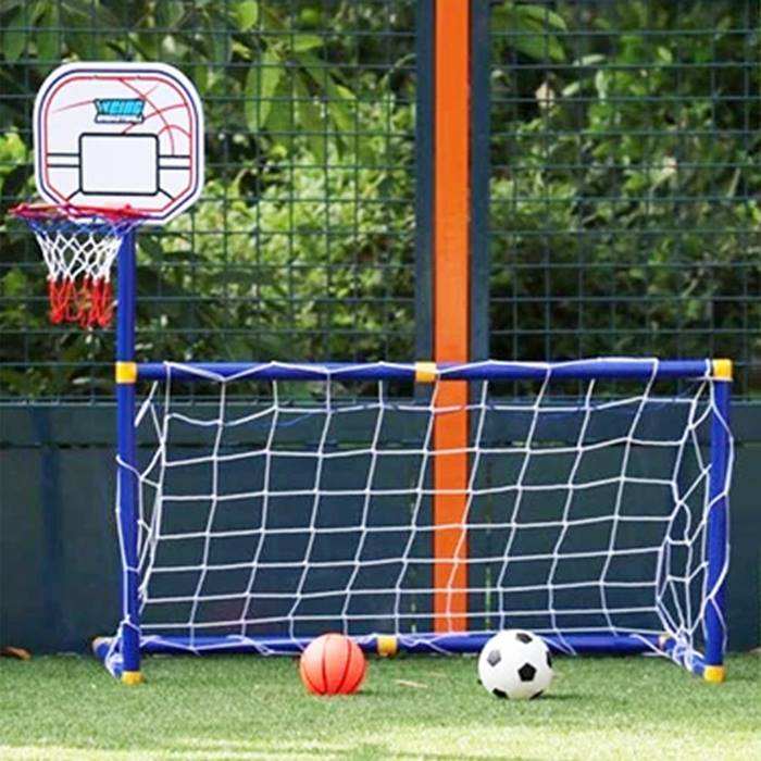 2-in-1 Children Football Goal Post With Basketball Hoop