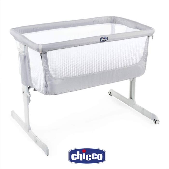 Chicco Next2me Air Bedside Crib - Stone