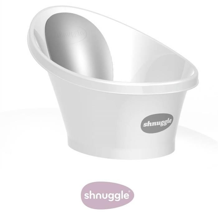 Shnuggle Bath-White with Grey Backrest