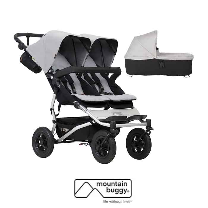 Mountain Buggy Duet V3 Twin Pushchair & Duet Plus Carrycot