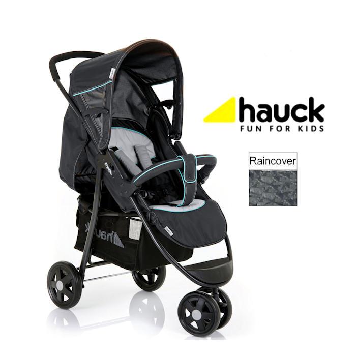 Hauck Citi Stroller 3 Wheel Pushchair - Caviar Silver