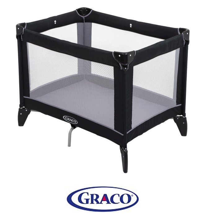 Graco Compact Travel Cot - Black / Grey