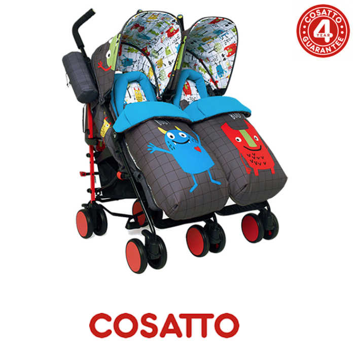Cosatto Supa Dupa Twin Stroller - Monster Mob