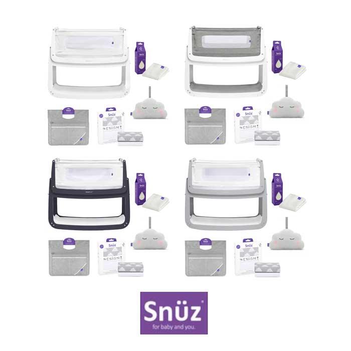 Snuz SnuzPod4 5 Piece Bedside Crib Bundle