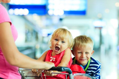 Toddler screaming in trolley