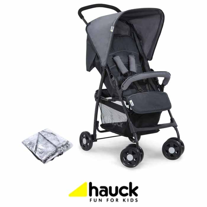 Hauck Sport Pushchair Stroller With Raincover - Charcoal