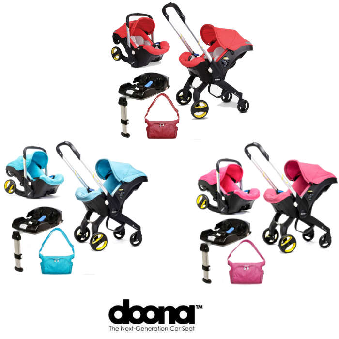 Doona Infant Car Seat / Stroller With Isofix Base & Changing Bag