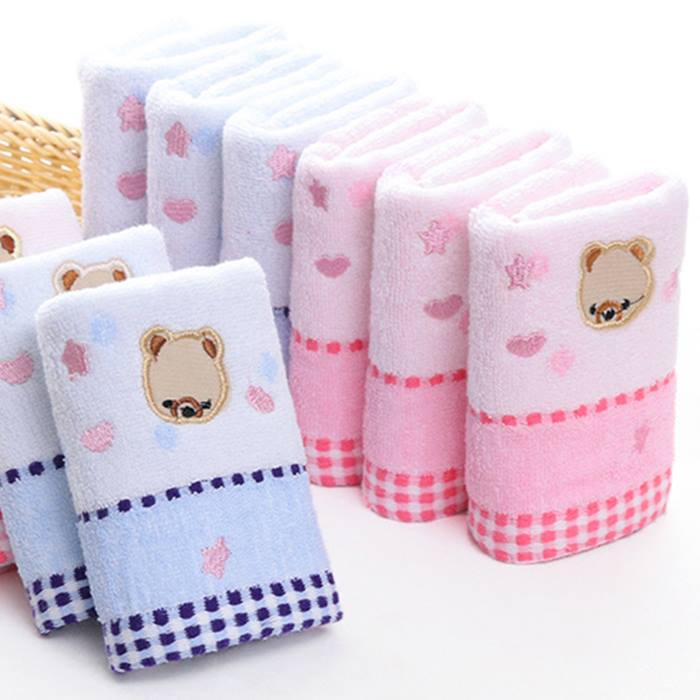 Cute Microfibre Baby Bath Towel - Pink or Blue