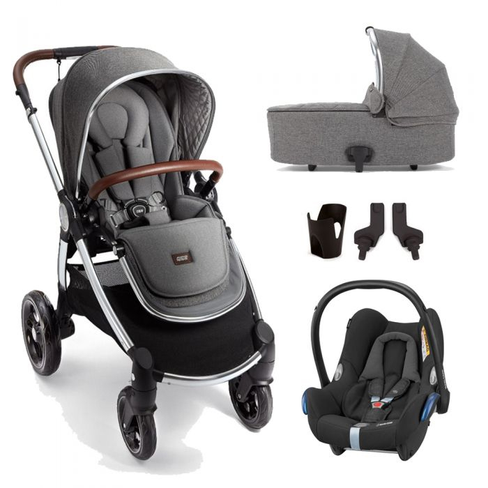 Mamas and Papas Ocarro 5 Piece Bundle - Grey Twill