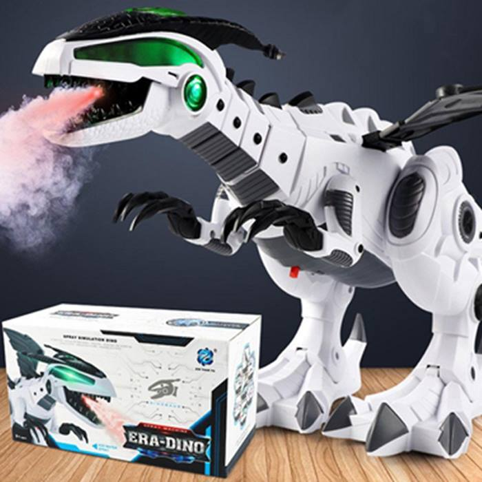 Vapour-Breathing Dinosaur With Movement, Lights & Sounds - 2 Colours