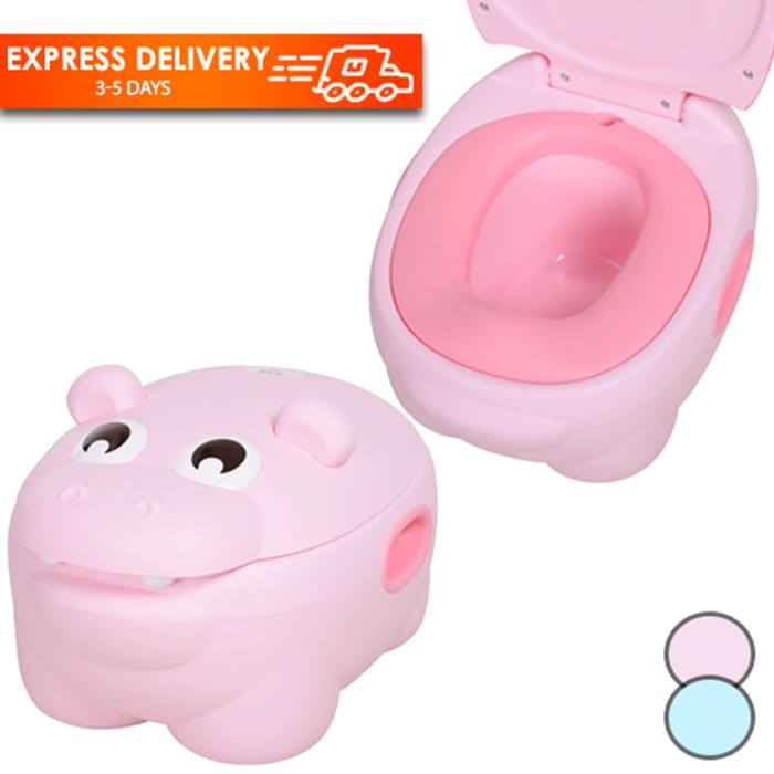 Hippo-Pottymus Toilet Trainer with Lid - Blue or Pink