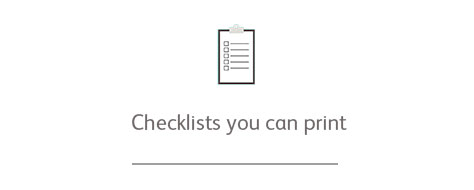 Checklists you can print