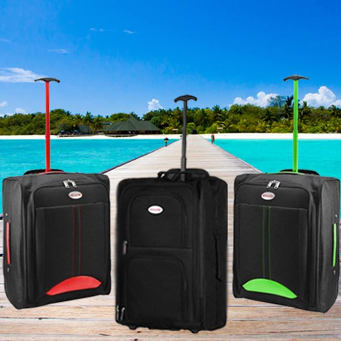 Cabin-Approved Wheeled Suitcase - 3 Colours