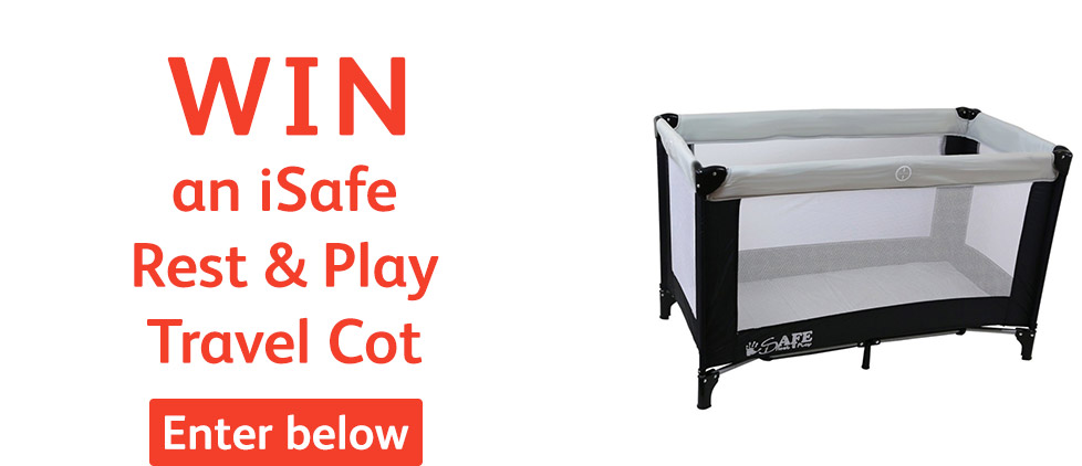 WIN a Precious Little Ones iSafe Rest & Play Travel Cot - enter below