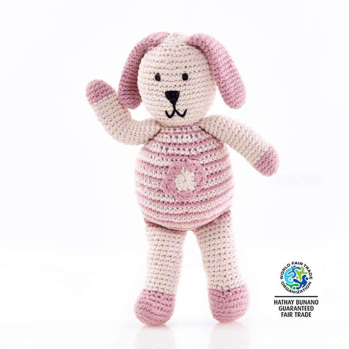 motif pink bunny