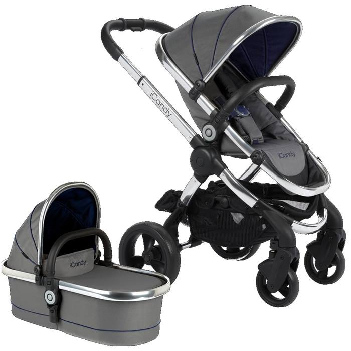 iCandy Peach Chrome Stroller & Carrycot (Moonlight)