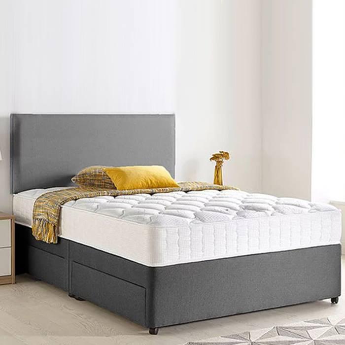 Grey Chenille Divan Bed