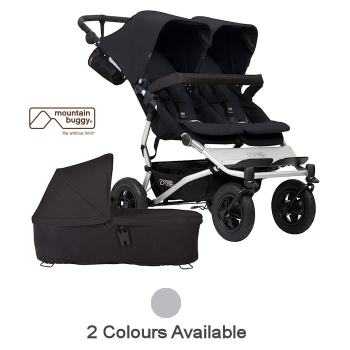 Mountain Buggy Duet V3 Twin Pushchair Carrycot