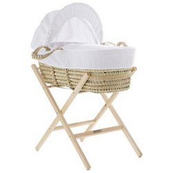 Cuggl Waffle Moses Basket with Stand 250