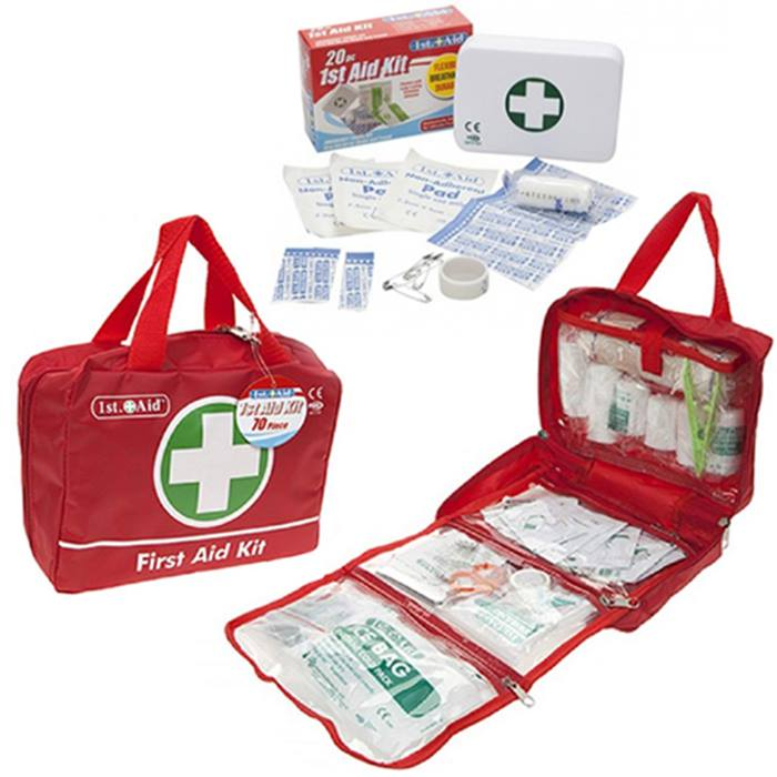 First Aid Kits - 20 or 70 Pieces