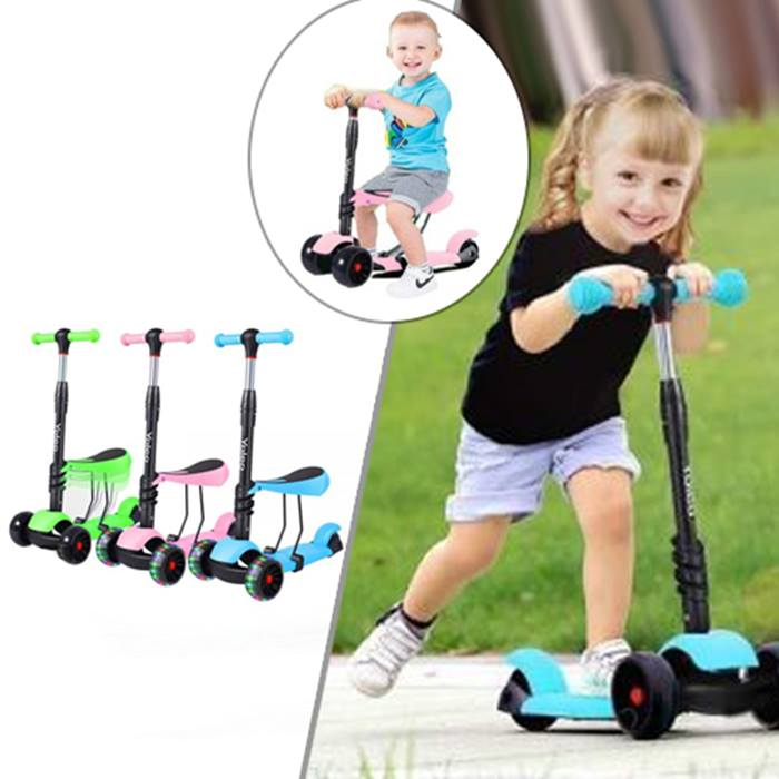 Kids' Stand-or-Sit Scooter - 3 Colours