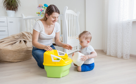 Potty training a stubborn child