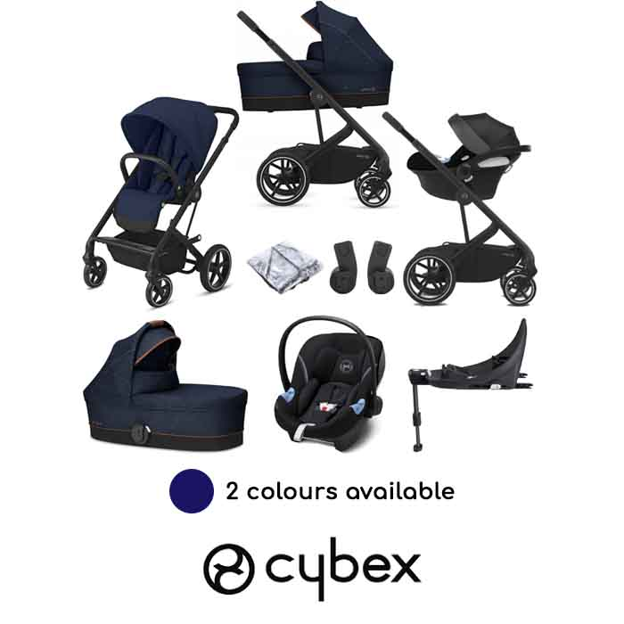 Cybex Balios S Lux (Aton M i-Size) Travel System with Carrycot & ISOFIX Base