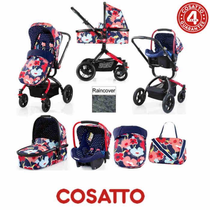 Cosatto Ooba 3 in 1 Combi Travel System - Proper Poppy