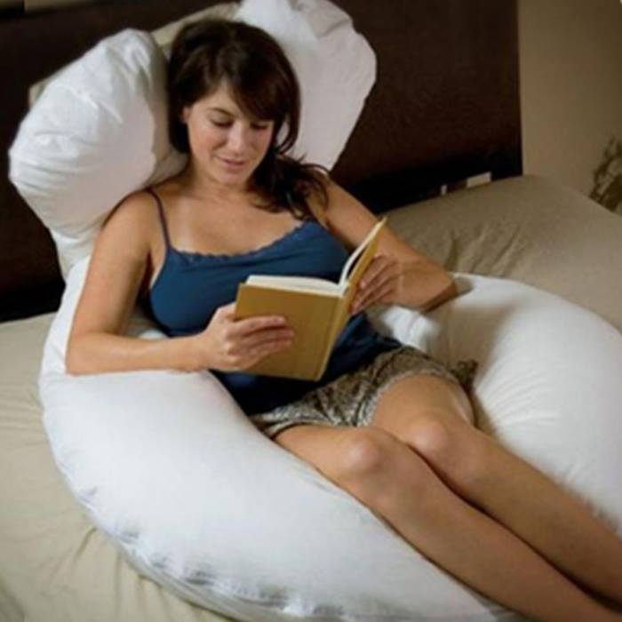 Giant U-Shaped Anti-Allergenic Pillow with Optional Pillow Case - 8 Colours