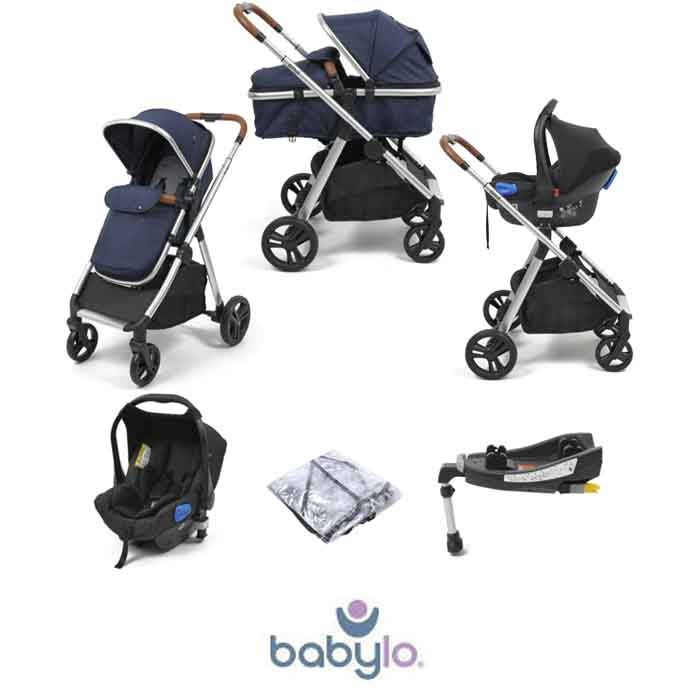 Babylo Luna 3in1 Travel System with ISOFIX Base