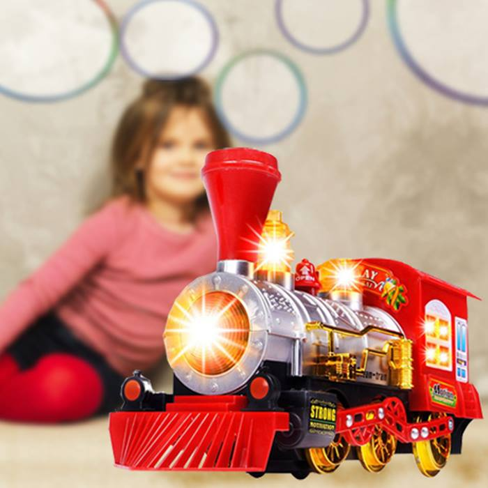 Musical Bubble Machine Train With Lights