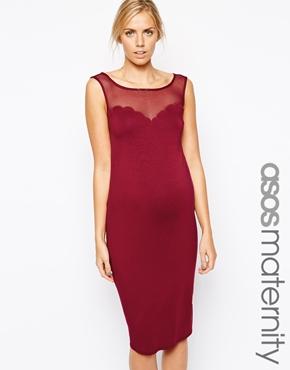 Asos red maternity dress