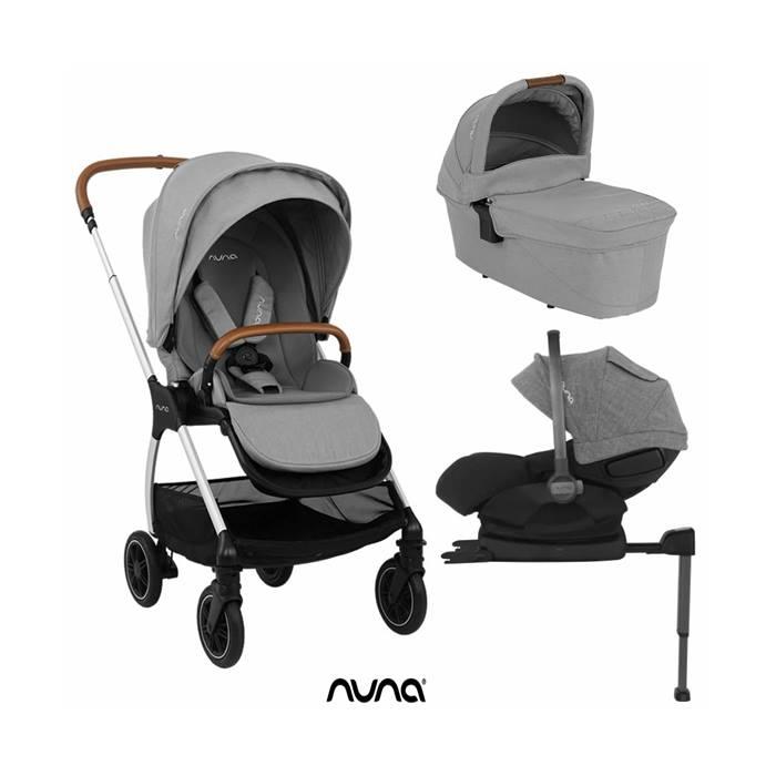 Nuna Triv Arra 5 piece Pushcahir Bundle - Frost