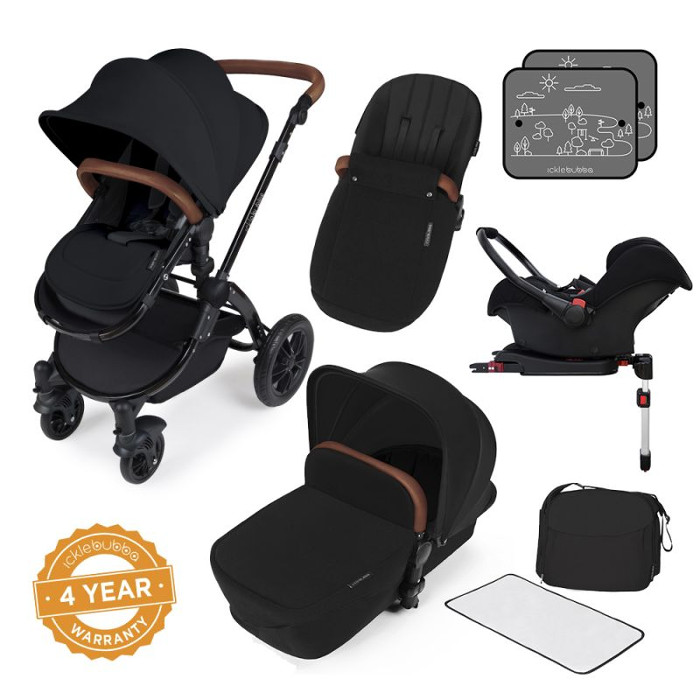 ickle-bubba-stomp-v3-black-frame-all-in-one-travel-system-with-isofix-base-black