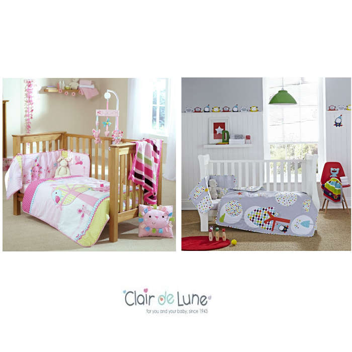 Clair De Lune Cot  Cot Bed Quilt  Bumper Set
