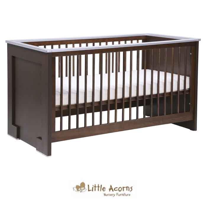 Little Acorns Luxury Modern Cot Bed with Fibre Mattress